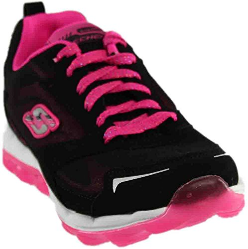 Skechers Kids Skech Air-Bizzy Bounce Sneaker,Black/Hot Pink,11 M US Little Kid