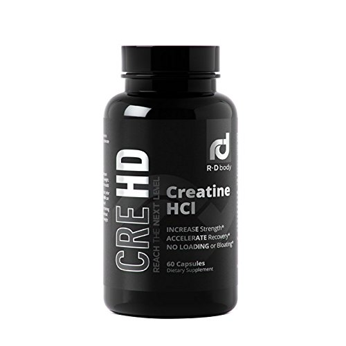 Gainer Weight Creatine (Creatine HCL Capsules - Creatine Supplement Pills for Muscle Size and Strength - CreHD (60 Capsules))