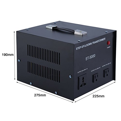 Homgrace 5000 W Voltage Converter Transformer, Heavy Duty Step Up and Down 110-220V (ST-5000 W) by Homgrace (Image #7)