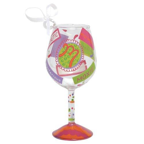 Santa Barbara Design Studio Lolita Holiday Mini-Wine Ornament, Letter M