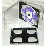 (25) Double Slimline CD Jewel Boxes with a Dark Grey / Black Pivot Tray