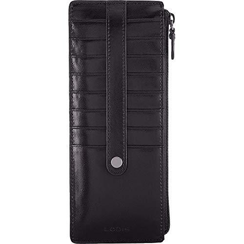 Zipper Audrey Lodis - Lodis Audrey RFID Credit Card Case with Zipper Pocket, Black