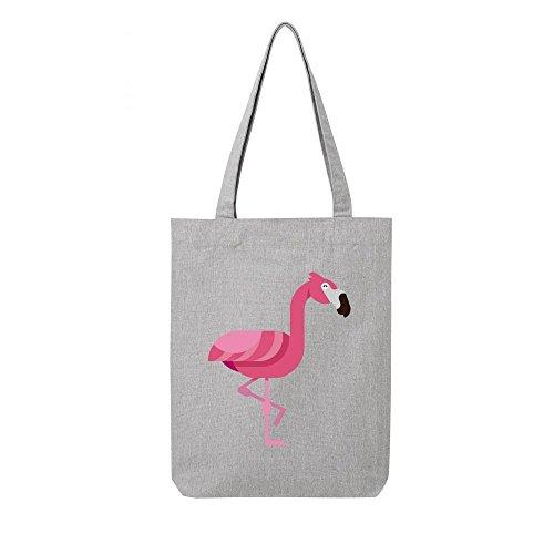Tote rose gris toile bag flamand recycle en wrfwp0