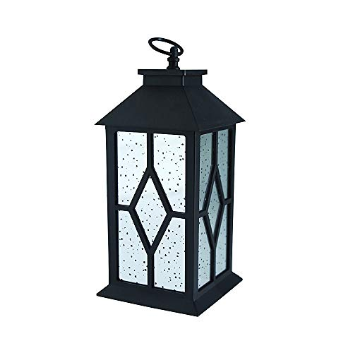 (YaCool Decorative Garden Lantern - Vintage Style Hanging Lantern Outdoor Decorative Lantern - Battery-Operated Lanterns with 6 Hour Timer- 12'(016))