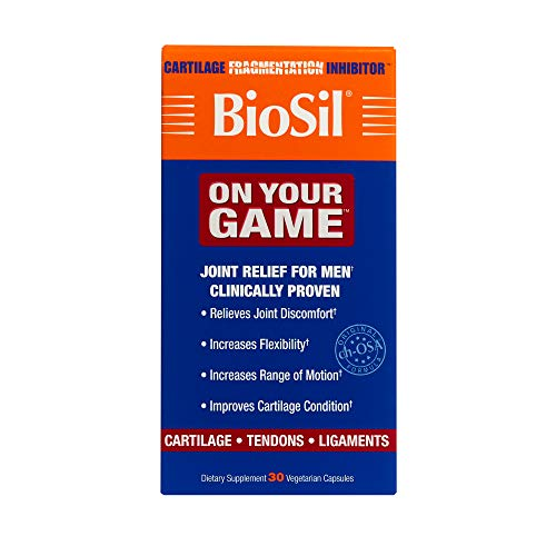 Natural Factors - BioSil ON YOUR GAME, Comprehensive Joint Support for Men, 30 Capsules