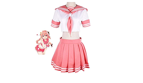 Details about  /Fate//Apocrypha Moon Racing Cosplay Astolfo Costume Halloween White Outfit Dress