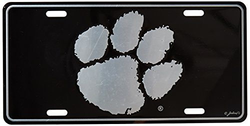 Game Day Outfitters NCAA Clemson Tigers Elite Car Tag, One Size, Multicolor