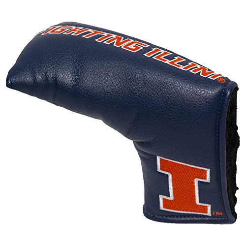 Team Golf NCAA Illinois Fighting Illini Golf Club Vintage Blade Putter Headcover, Form Fitting Design, Fits Scotty Cameron, Taylormade, Odyssey, Titleist, Ping, Callaway