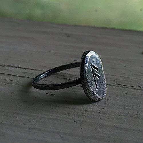Custom Rune Ring - Sterling Silver - Viking Pagan Jewelry - Choose any Rune