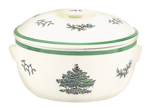 Spode Christmas Tree Round Covered Deep Dish Casserole by Spode