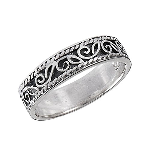 Sterling Silver Infinity Band Toe Ring Size ()