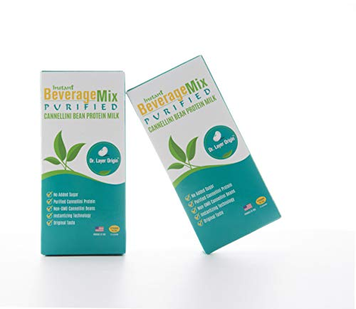 White Kidney Bean Protein Mix - Purified Bioactive Protein to Reduce Carbs' Impact, 15 Stick Packs, Dr. Layer Origin, Bean Protein