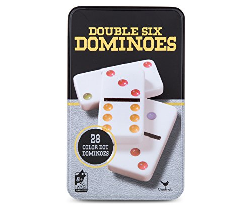 Cardinal Games - Traditions: Double Six Color Dot Dominoes