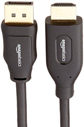 AmazonBasics DisplayPort to HDMI Cable - 3 Feet