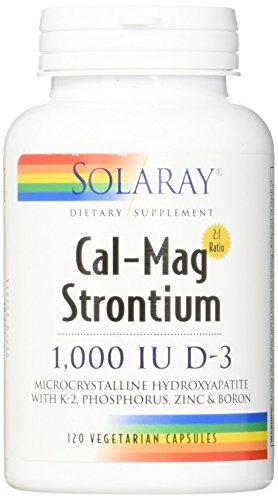 Solaray Cal-Mag + Strontium & D-3 VCapsules, 120 Count