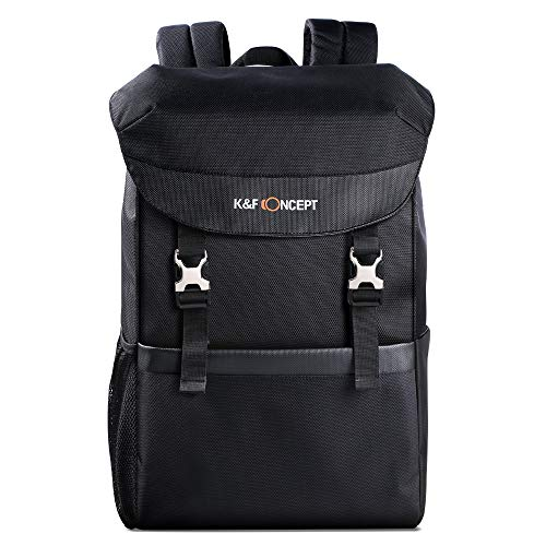 K&F Concept DSLR Camera Backpack Waterproof Photography Travel Bag Large Size Fit 15.6'' Laptop,Camera,Lens and Accessories