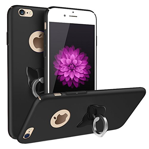 IPhone 7 Plus Case, Nurbo 2016 New Hot Creative Protect Cover with Ring Holder for iPhone 7 Plus 5.5 Inch Version (Black)