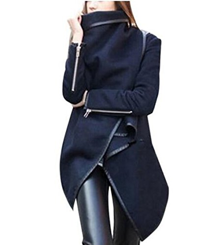 Women's Solid Wool Blends Long Trench Coats (Fat Tire Hoodie compare prices)
