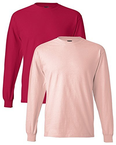 Hanes Adult Beefy-T Long-Sleeve T-Shirt - -
