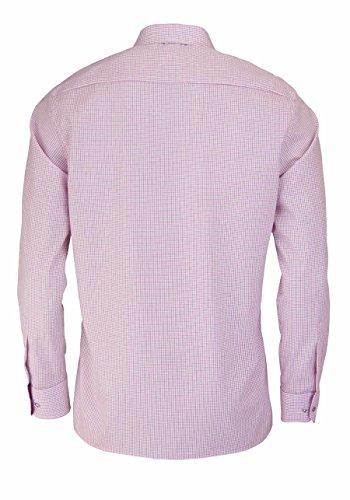 Eterna Long Sleeve Shirt Modern Fit Poplin Checked