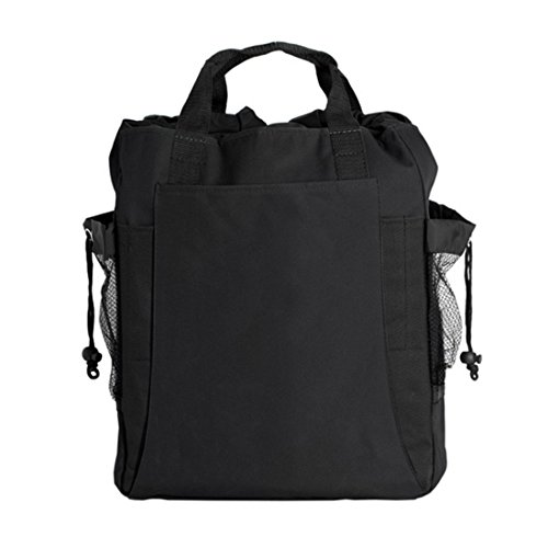 Bagiva Shoulder Strap Backpack Totebag Travel Hiking Camping Pack(Black,OS)