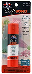 Elmer's Craft Bond Extra Strength Glue Stick, .88-Ounce, Blue