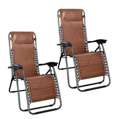 Amazon.com: AVGDeals 2 sillas plegables de gravedad cero ...