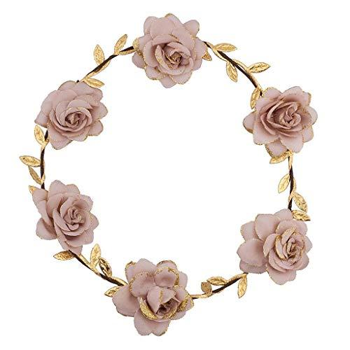 Lux Accessories Pink Goddess Flower Headrown