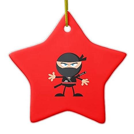 Stella Di Natale In Casa.Polpdid Cartoon Ninja Warrior Due Lati Rosso Stella Di Natale In