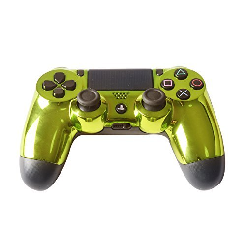 Controller Front Shell for PS4 Controller - Case for the PS4 Controller Dualshock 4 Front Shell Replacement - Custom Cool PS4 Controller Shell Case Cover PS4 Controller Shells - Chrome Green