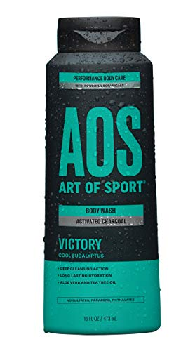 Art of Sport Activated Charcoal Body Wash for Men – Victory Scent – Cool Eucalyptus Fragrance – Natural Botanicals Tea…