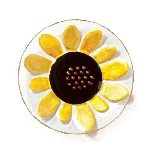 DEMDACO Silvestri Glass Fusion Sunflower Round Plate