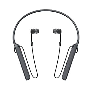 Sony – C400 Wireless Behind-Neck in Ear Headphone Black (WIC400/B)