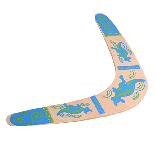 Dilwe Wooden Returning Boomerang, Classic V Shape New Handmade Australian Style Returning Boomerang for Outdoor Sports Wood Equipment