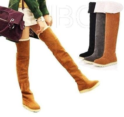 886967a3e8438 Amazon.com: maket Women's Winter Flat Thigh high Snow Boots Girl's ...