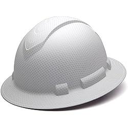 Pyramex Safety HP54116 Ridgeline Full Brim Hard Hat (White Graphite Pattern)