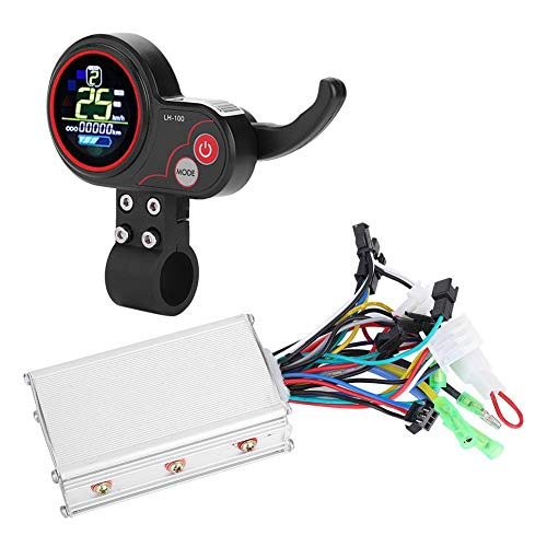 Motor Brushless Controller with Rainproof LCD Display Control Panel and Shift Switch Accessory for Electric Bike -