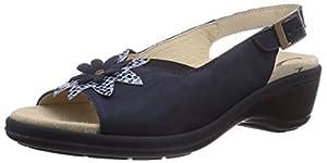Florett Timea, Damen Offene Sandalen mit Keilabsatz, Blau (25/marine), 39 EU