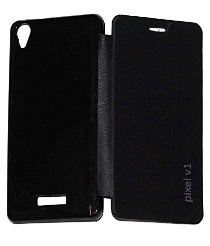 the latest 89551 901bb Micomy Flip Cover for Lava Pixel V1 -Black: Amazon.in: Electronics