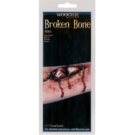 Woochie by Cinema Secrets Broken Bone Latex Appliance, Multi, One Size -