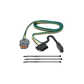 vehicle hitch wiring for - nissan - pathfinder - 2005-2007 - with factory  tow package, replacement oem tow package wiring harness (4-flat),