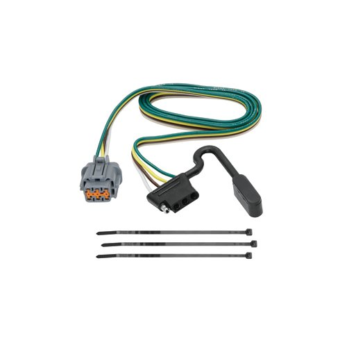 Vehicle Hitch Wiring For - Nissan - Frontier - 2005-2017 - With Factory Tow Package, Replacement OEM Tow Package Wiring Harness (4-Flat) (Package Tow Oem Replacement Wiring)
