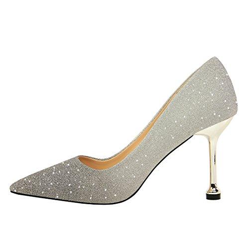 36 Femme Sandales DS0755 5 Compensées Miyoopark Silver 1 MiyooparkUK EU Argenté q8FwxZpn