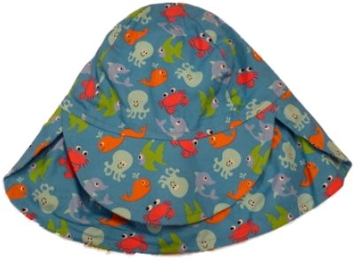 9e6ee951e91 Image Unavailable. Image not available for. Color  Toddler Boys Royal Blue  Sun Hat Sea Creature Bucket Hat Fish Octopus Crab Aqua