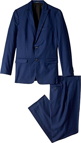 Calvin Klein Little Boys' Two Piece Infinite Blue Suit, Bright Blue, 7 by Calvin Klein