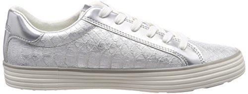 Low top oliver Sneakers silver 23615 S White Women''s white qIPwUwt