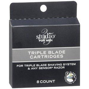 (Studio 35 For Men Triple Blade Cartridges, 8 ea)