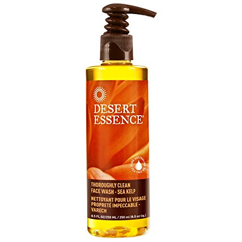 Desert Essence Thoroughly Clean Face Wash - Sea Kelp - 8.5 Fl Oz - Nourishes Skin For Healthy Radiant Glow - Antioxidant Protection - Tea Tree Oil - 100% Natural Ingredients - Natural (Desert Essences Face Wash)