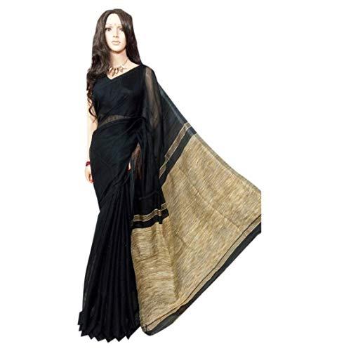 (Black Mokhlin HandmadeSari Designer Ghicha Pallu Saree Bengal Weavers Indian Ethnic 509)
