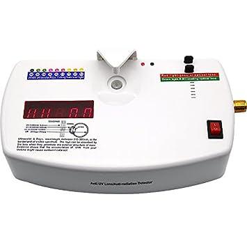 Huanyu UV-400 - Lente óptica antirradiación ultravioleta con comprobador de rayos UV para máquina de detector de radiación (incluye perilla ajustable): ...
